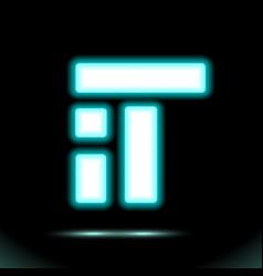 neon lamp inscription it high-tech information vector image