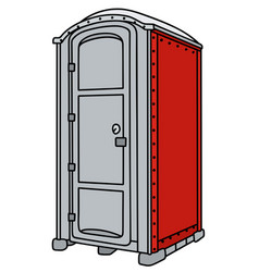Red and gray mobile toilet vector