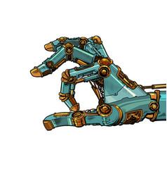 robot hand click vector image