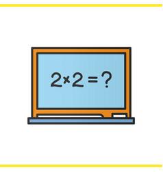 school blackboard color icon vector image