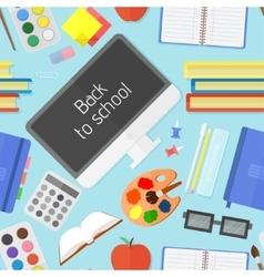 school education items seamless pattern vector image