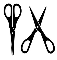 scissors on a white background vector image