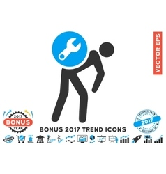 Service Courier Flat Icon With 2017 Bonus Trend vector