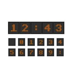 Set pixel numbers of lighting bulb vector