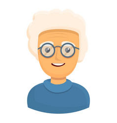 Smiling grandmother icon cartoon style vector