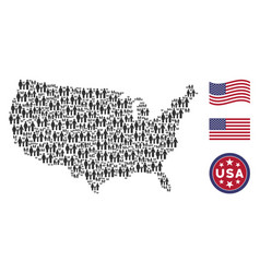 united states map stylization of family child vector image