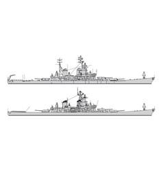 us battleship vector image