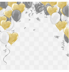 valentines day template realistic air balloons in vector image