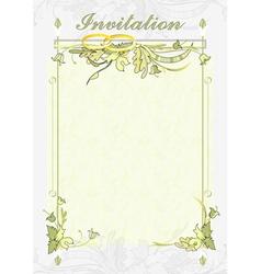 wedding invitations vector image