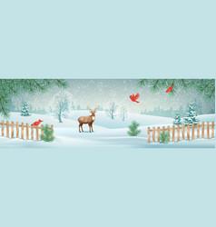 Winter landscape vector
