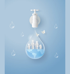 wolrd water day with family vector image