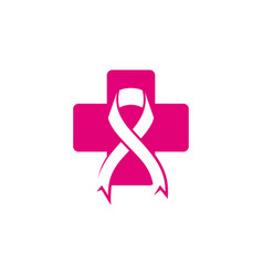 women breast cancer logo vector image