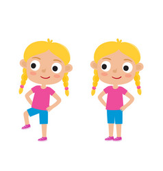 blondy girl in exercise vector image vector image