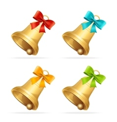 Christmass Bell Set vector image vector image