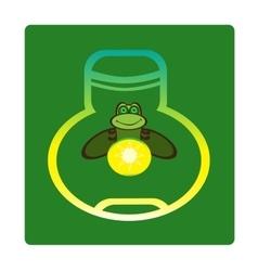 Fireflies vector image