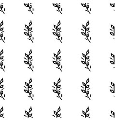 hand drawn brush flowers handmade seamless ornate vector image vector image