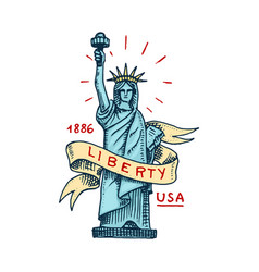 native american symbol statue of liberty or vector image