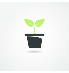 plants icon vector image vector image
