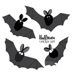 Set of ridiculous animation bats An vector image vector image