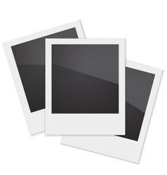Set Retro Photo Frame Polaroid On White vector image vector image