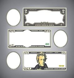 Stylized money vector image vector image