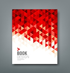 Cover report red triangle geometric pattern vector image vector image