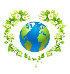 Eco background with globe vector image