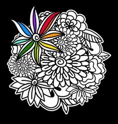 Floral arrangement vector