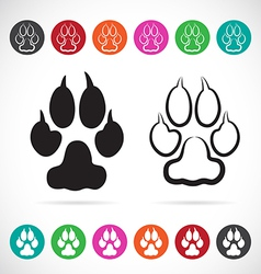 image of paw print vector image