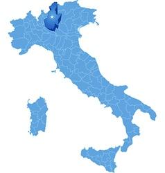 Map of Italy Brescia vector image vector image