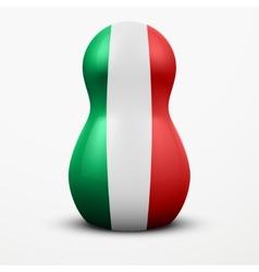 Russian tradition matrioshka dolls in Italy flag vector image