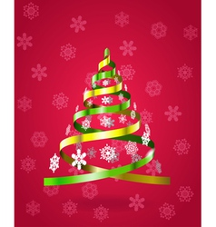 Stylized Christmas tree from ribbons vector image vector image