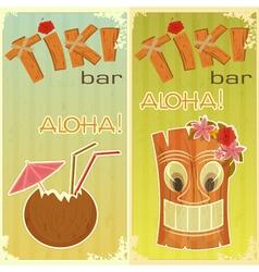Tiki bars Hawaiian vector image