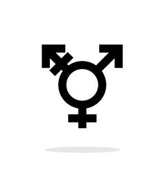 Transgender icon on white background vector image vector image