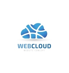 Abstract net cloud logo vector image vector image