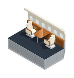 airplane interior isometric composition vector image vector image
