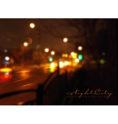 background with night city and Blurs vector image
