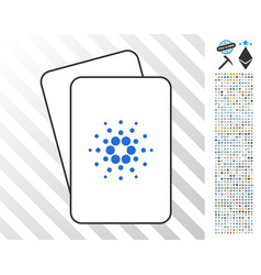 cardano cards with bonus vector image vector image