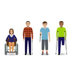 disability people concept group of woman on a vector image
