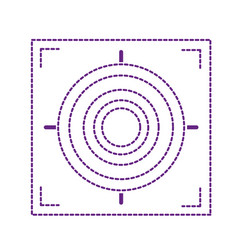 dotted shape gun sight circle with shooting focus vector image