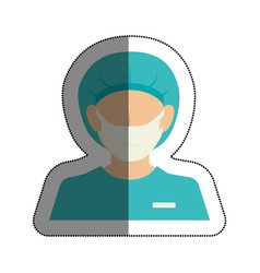 surgeon avatar character icon vector image vector image
