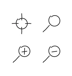 Zoom set icons vector image vector image