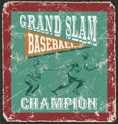 baseball grandslam homerun vector image
