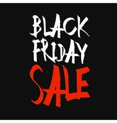 Black Friday Sale Typography Black Background vector image vector image