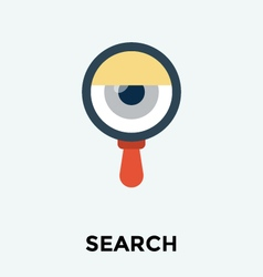Eye Search Icon vector image