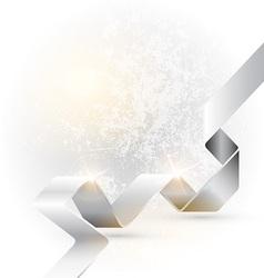 Folded ribbon vector image vector image