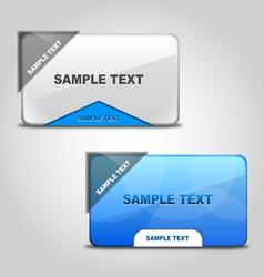 Stylish Web Boxes vector image