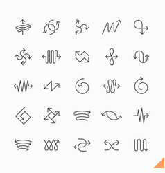 thin line arrows icons set vector image