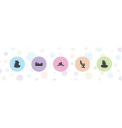 5 massage icons vector