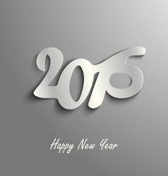 Abstract New Year wishes on a gray background vector image